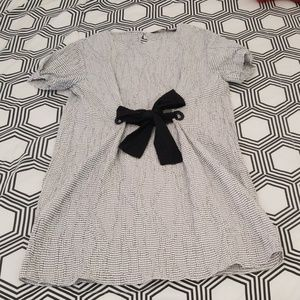 Zara Tie Front Shift Dress